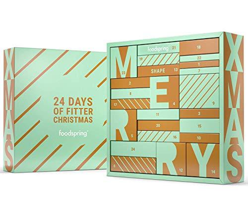 foodspring Adventskalender, Shape 2020, Fit durch die Feiertage, 24 Produkte für deine Wohlfühlfigur, Perfekte Alternative zu herkömmlichen Kalendern
