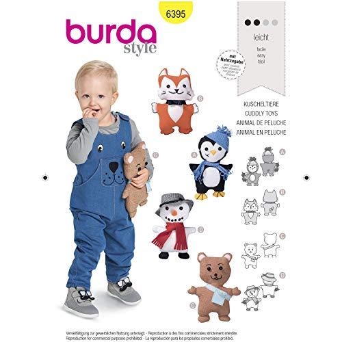 Burda 6395 Schnittmuster Kuscheltiere in verschiedenen Varianten, Level 2, leicht