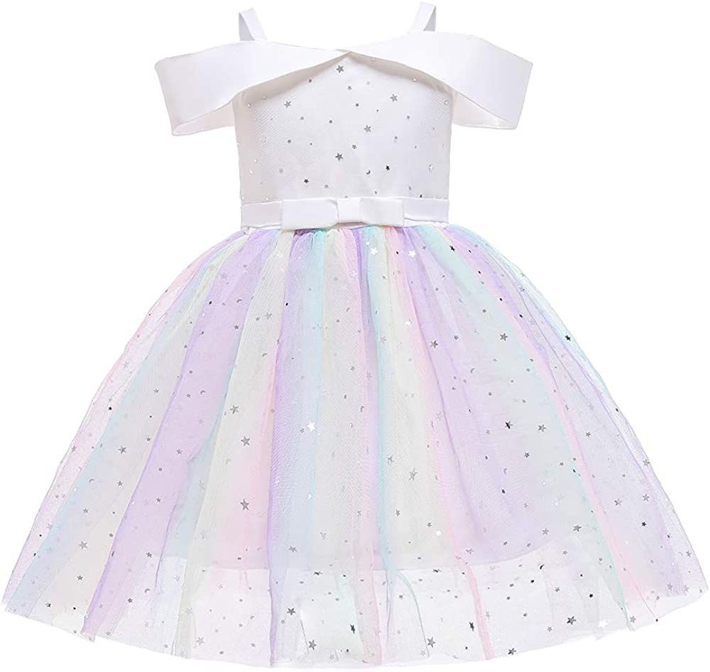 Toddler Limited time trial sale price Rainbow Pageant Dresses for Pri Party Sparkly Tutu Girls