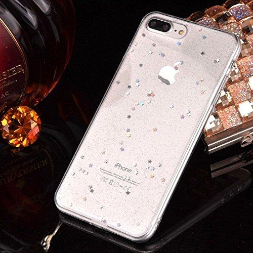 Epoxy Drip Black Starry para iPhone 6 y 6s Funda de TPU suave Cubierta trasera Cubierta antideslizante (SKU: Ip6g2298c)