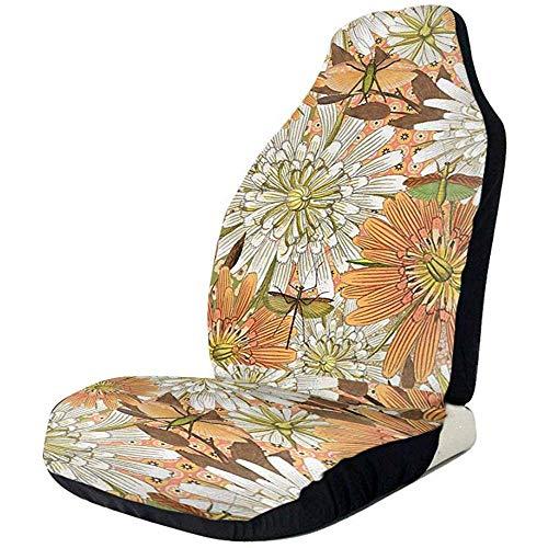 Lovely Sunflowers - Juego completo de 2 protectores de asiento de coche para coches, sedán, camión, SUV, furgoneta