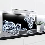 Paneles de cristal cocina Splashback–Bañador estampado resistente al calor vidrio e...