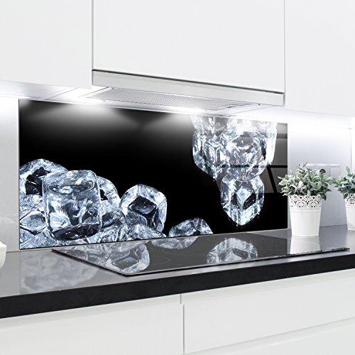 Cristal templado resistente al calor templado decorativo – 125 x 50 cm – 4 mm de grosor – Perfecto detrás de cocinas de gas, cerámica e inducción – Fácil de limpiar y colgar