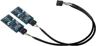 H HILABEE マザーボード USB 9ピン ヘッダースプリッタ 1ー4延長ケーブル ポートマルチプライヤ