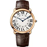 Cartier Ronde Louis - Reloj (Reloj de pulsera, Masculino, Oro, Oro, Cuero, Marrón)
