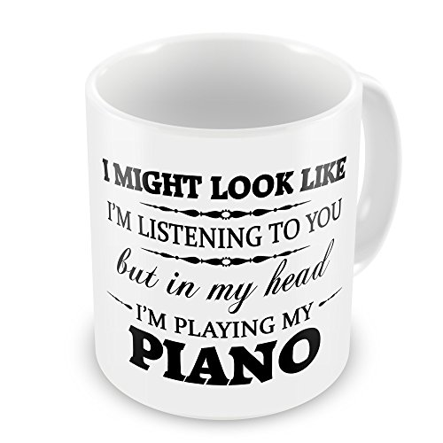 In My Head I'm Playing My (Piano) Funny Novelty Gift Mug