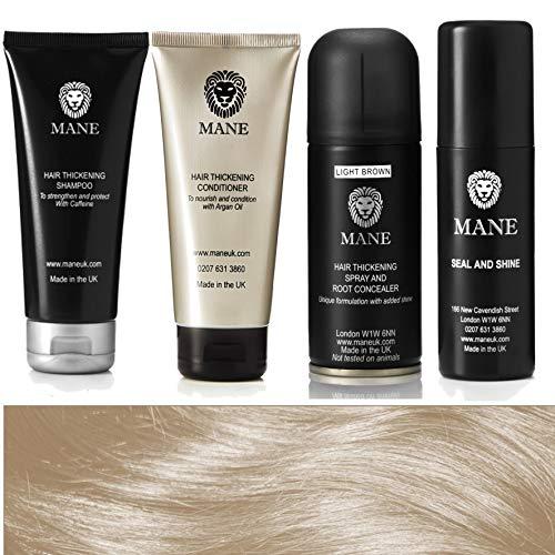 Mane Hair Thickener 100 ml Travel Pack - Light Brown