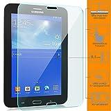 zanasta [2 Stück] Bildschirmschutz Folie kompatibel mit Samsung Galaxy Tab 3 7.0 Lite Schutzfolie aus Gehärtetem Glas (Glasfolie) HD Klar Transparent