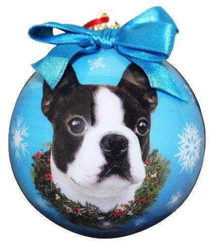 Boston Terrier Christmas Ornament Shatter Proof Ball