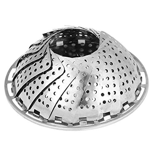 1 unids de acero inoxidable de malla plegable de malla de huevo vegetal de huevo de vegetal utensilios de cocina de vapor de vapor de canasta de utensilios de cocina de utensilios de cocina de utensil