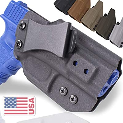 "QuickClip Pro Tuckable IWB KYDEX Gun Holster - Concealed Carry Multiple Adjustable Belt Clips - 100% US Made - Inside Waistband (Springfield XD-S 9/40/45 (3.3""), Earth-FDE Right Hand Draw (IWB))"