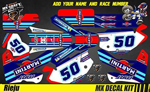 Kit de decoración para moto/MX Decal Rieju MRT Pro – Martini