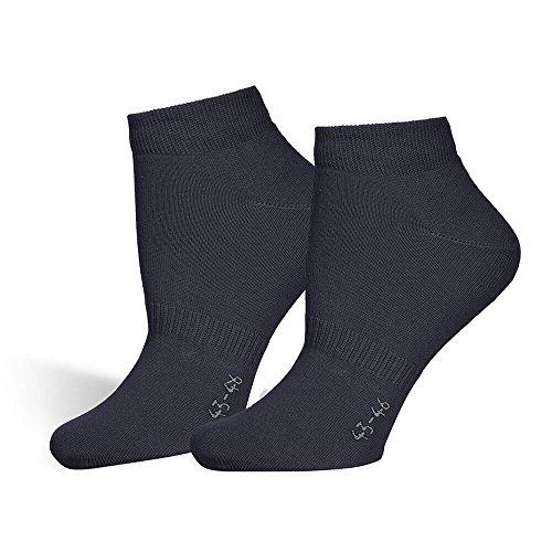 Safersox Sneaker Socken Blau, Marine, 39-42