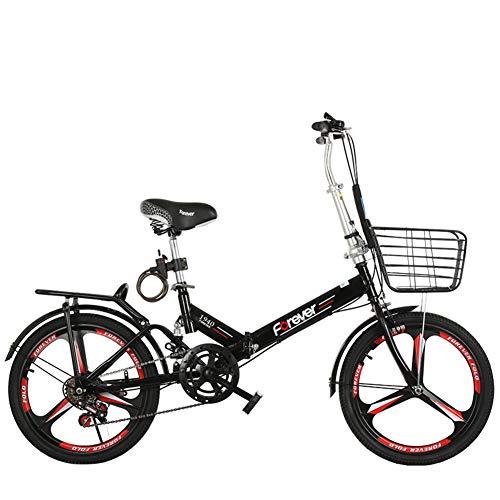 """Faltbare Urban Bicycle,Scheibenbremsen 6 Geschwindigkeit Gang-schaltung City Bike,Tragbares Stoßdämpfer Unisex Fahrrad,Hochkohlestahl Rahmen,Outdoor C 20"""""""