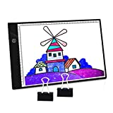 PullPritt Mesa de Luz de Dibujo,LED A4 Tableta de Luz Tablero de Trazado Brillo Ajustable,Light Pad Ultradelgada con Panel Táctil Inteligente y Interfaz USB para Artistas,Animación,Bocetos,Diseño