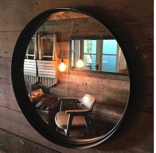 Tinta Unita Specchio Rotondo 55cm Diametro, Ruggine Invecchiato Colore Finitura