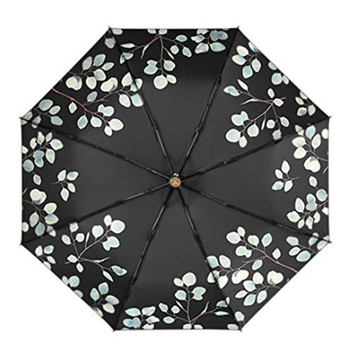 JKHOIUH Ultralight Small Folding Umbrella UV-Schutz Sonnenschirm Mini Sunscreen Umbrella (Farbe : Schwarz)