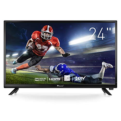 Myonaz LED HD TV 24 inch 1080p Flat Screen TV HDMI USB, PC Audio, RF, VGA (2020 Model)