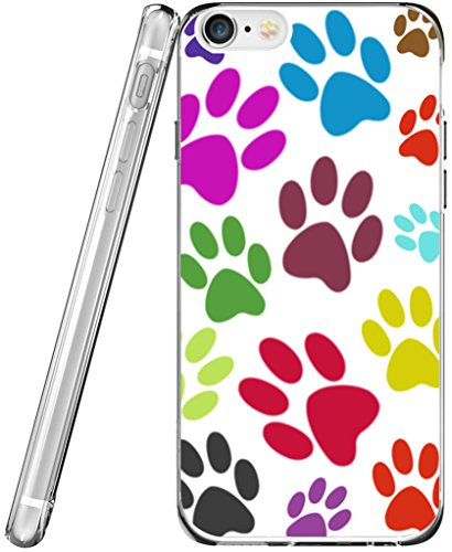 Case for Phone 6S TPU & Protector for Phone 6 & MUQR Flexible Gel Silicone Slim Drop Proof Protection Cover Compatible with iPhone 6/6S & Colorful Lovely Dog Claws
