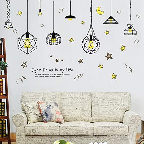 FOMBV Wandaufkleber DIY fünfzackigen Stern Kerzenhalter mit Draht Wandaufkleber Schlafzimmer Kinderzimmer Aufkleber an der Wand