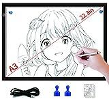 DONPODER Caja de luz LED grande A3 para rastrear artistas, dibujos, pintura de diamantes, arte, bocetos, animación, estarcido, visualización de rayos X (almohadilla de luz-A3)