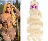 Arenshxc #613 Bundles Echthaar Tressen Body Wave Brazilian Blonde Remy Haarverlangerung For Women Hair Weave Blonde Virgin Human Hair Grade 9A 22 24 26 zoll