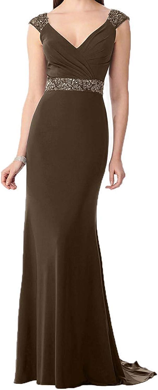 DressyMe Women's Elegant Evening Dresses Sheath VNeck Long Prom Dress Pleated