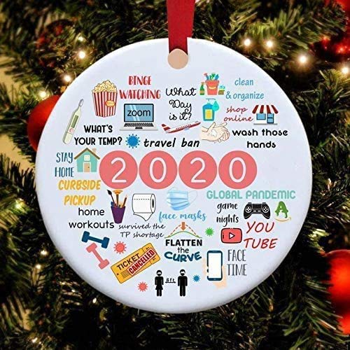 2020 Annual Events Christmas Ornament, Babys First Christmas Ornament Quarantine, Covid_Christmas 2020 Ornament, Personalized Keepsake Decorations, Toilet Paper Ornament, Face Mask Ornament