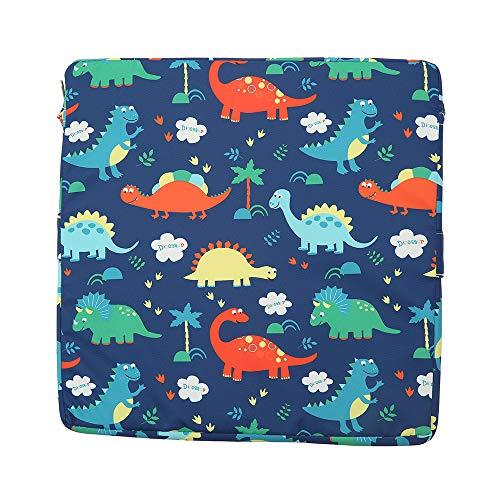 Sitzerhöhung für kinder, Sitzerhöhung Stuhl, Kinder Sitzkissen Sitzerhöhung Stuhl, Baby Sitzkissen Cartoon Design, Verstellbar Zerlegbar Waschbar Tragbare Sitzkissen (Blauer Dinosaurier)
