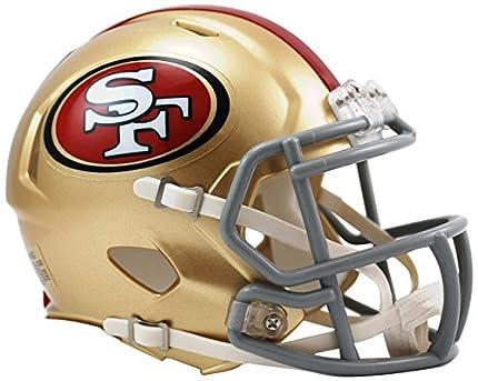 Riddell NFL San Fransisco 49ers Speed - Mini Casco de fútbol Americano