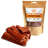 Pets Purest Dog Treats Chicken Beef Strips - 100% Natural Air-Dried Chews for Dogs, Puppy & Senior. ...