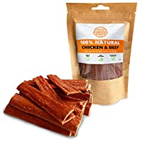 RAW & HEALTHY DOG TREATS: Treat your canine to a pure and delicious reward that isn't associated with the problems of unhealthier dog chews. Chicken and beef are the only ingredients making them a perfect pet safe alternative for a good boy or girl. ...