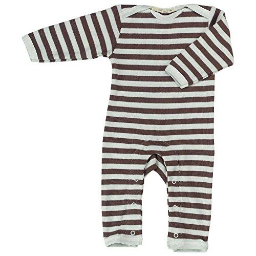 Pigeon-organics For Kids Grenouillère Pyjama Romper Long Stripes Marron 0-3 m
