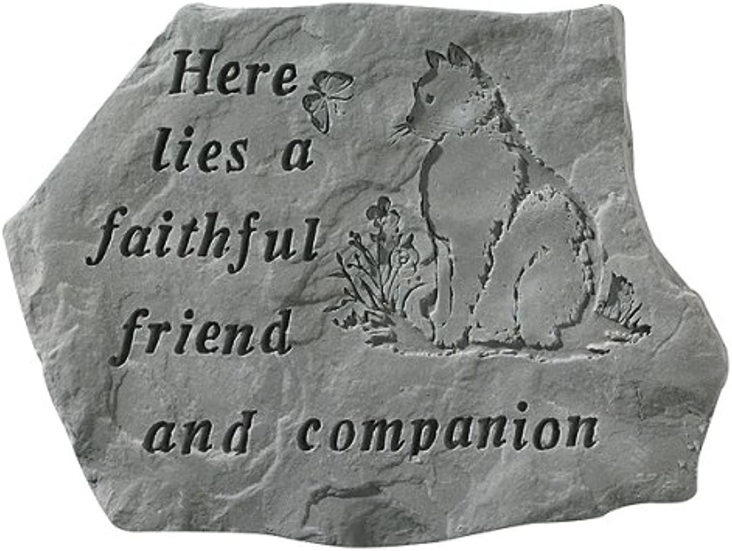 Kay Berry Inc. 67820 Here Lies A Faithful Friend And Companion  Cat Memorial  15.5 Inches x 11.5 Inches