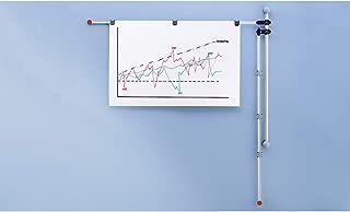Maul 图纸支架 2 个可调旋转臂 132 厘米 DIN A0 包括 6 个磁夹 铝质 黑色/灰色