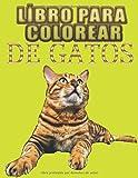 Libro Para Colorear DE GATOS: Fantásticos Animales para Colorear. 50 diseños de gatos para colorear para niños y adultos con estampados antiestrés en un lado para relajarse