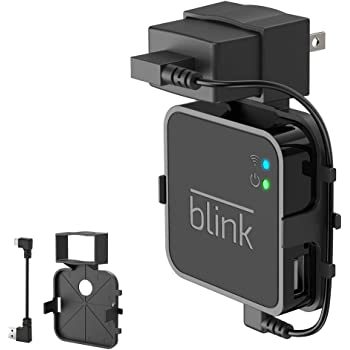 HOLACA Outlet Wall Mount Stand for Blink Sync Module,Bracket Holder for Blink Outdoor Blink Indoor Blink XT2 Outdoor and Blink Mini Camera with Easy Mount and No Messy Wires or Screws (Black)