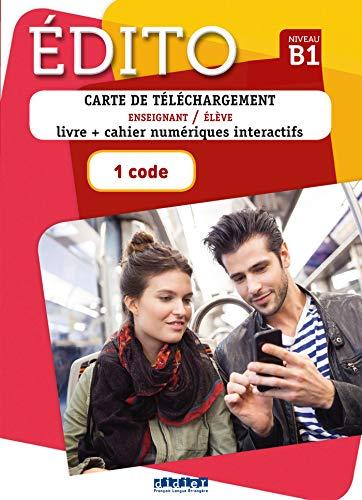 Edito niv.B1 (éd. 2018) - Carte de téléchargement premium - 1 code: Carte de telechargement B1 Premium - 1 code