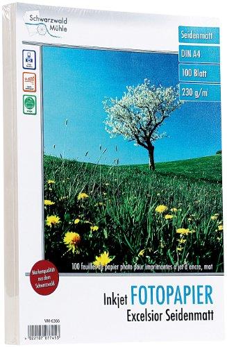 "Schwarzwald Mühle Photopapier: 100 Bl. Fotopapier""Excelsior matt"" 230g/m² A4 (Fotopapier Inkjet)"