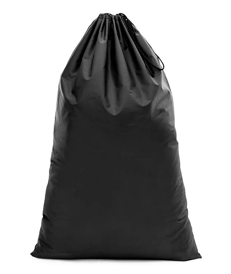 アパート大使気がついて【Y.WINNER】特大サイズ 巾着袋 収納袋 (70*45CM) 強力撥水加工 アウトドア キャンプ 旅行 バッグ 万能巾着袋 大きいサイズの着替え袋にも使える YWN9976K ブラック (70*45)