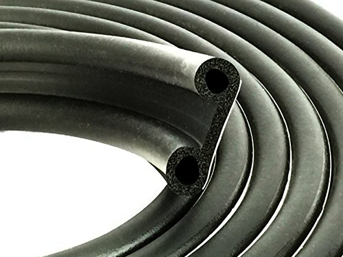 ESI Super Cap Seal 23 FT (1 1/2' Width x 1/2' Height x 23' Length) EPDM Rubber for Caps 200 lbs or Less