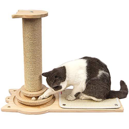 Árbol Rascador Para Gatos Árbol Para Escalar Altura 45 Cm, Rascador Giratorio Para Gatos De Madera Maciza, Juguetes Interactivos Para Gatos, Antideslizante Resistente Al Desgaste, Duradero