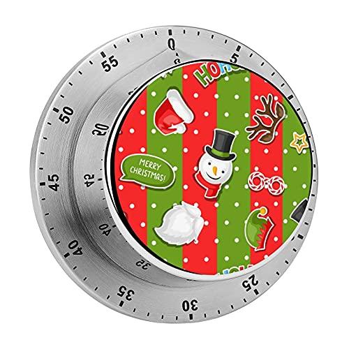 Temporizador de cocina, Feliz Navidad con cabina de fotos Chasis magnético alarma de acero inoxidable, utilizado para la cocina, hornear, fitness ejercicio temporizador