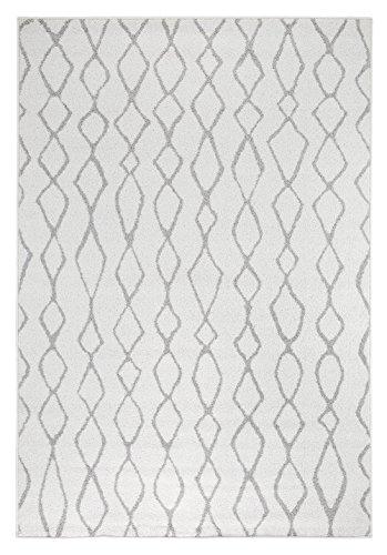 andiamo Webteppich Bolonia Muster Läufer modern Öko-Tex 100 Teppich, Polypropylen, Ornament grau, 67x140 cm