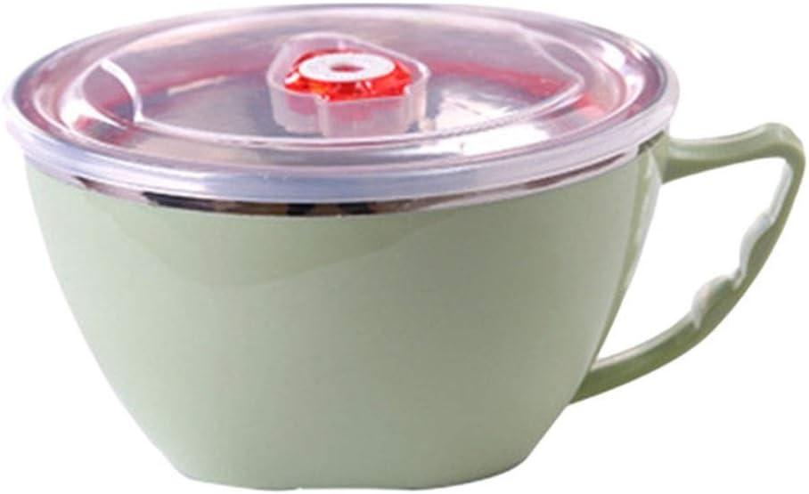 Bowl WUBING Instantánea de Acero Inoxidable 1PC Noodle Salad Tapa de Mano Individual del Estudiante la Caja de Almuerzo de Oficina Trabajador Aislado Caja de Almuerzo del Almuerzo tazón Grande de