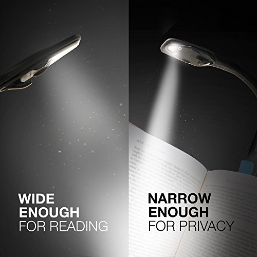 Energizer Clip on Book Light for Reading in Bed, LED Reading Light for Books and Kindles, 25 Hour Run Time, Kindle & Book Reading Lamp (Batteries Included) , Black