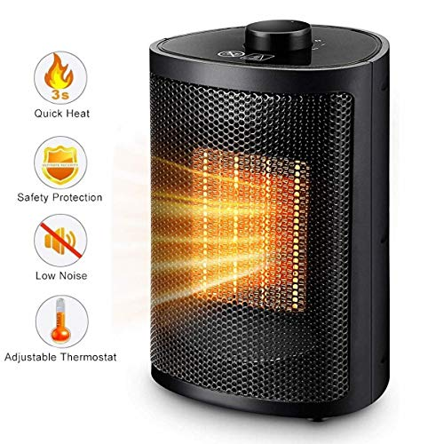 Personal Space Heater, Electric Mini Heater Portable Ceramic Heater with Tip-Over and Overheat Protection, ETL Listed for Home Office Kitchen Bedroom and Dorm, 750/1500 Watt Heater Space