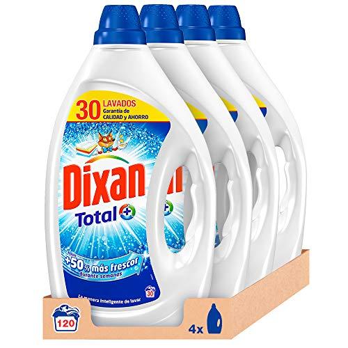 Dixan Detergente Líquido Total para Lavadora - Pack de 4x30D, Total 120 Lavados (6 L)