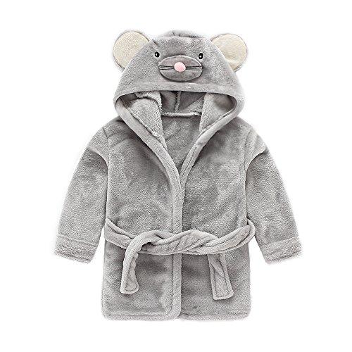 IEUUMLER IEUUMLER Children's Hooded Bath Towel Flannel Fleece Pyjamas for Baby Girl Boy Toddler Baby Dressing Gown 0-6 Jahre IE002 (Height:90-100CM(120))