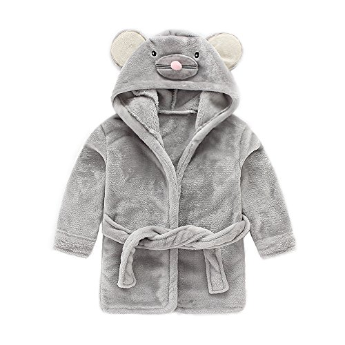 IEUUMLER IEUUMLER Children's Hooded Bath Towel Flannel Fleece Pyjamas for Baby Girl Boy Toddler Baby Dressing Gown 0-6 Jahre IE002 (Height:100-110CM(130))